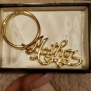 Gold Mother keychain